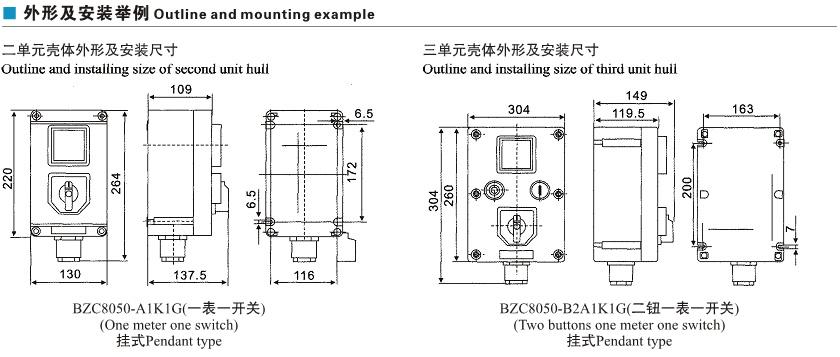 bzc8050系列防爆防腐操作柱(Ⅱc)